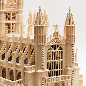 Bath Abbey, HMP Isle of Wight (Albany), Commended Award for Matchstick Models 2015