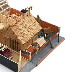 Grandad's Place, HMP Isle of Wight (Parkhurst), Benjamin G Lewis Commended Award for Matchstick & Mixed Media Models 2015