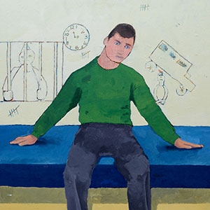 The Writing's on the Wall, HMP Cookham Wood, Greater London Area NADFAS Young People's Gold Award for Painting 2015