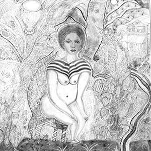 Sitting Lady, HMYOI Portland, Platinum Award for Drawing 2015