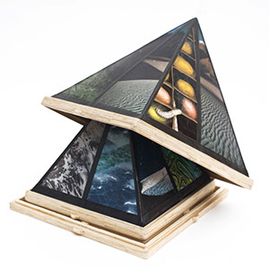3D Pyramid Picture Frames, HMP Frankland, Gold Award for Matchstick & Mixed Media Models 2015