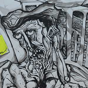 Detox 'The Fear', HMP Bronzefield, Gold Award for Drawing 2015