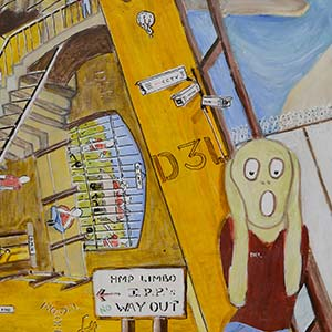The I.P.P. Scream, HMP & YOI Norwich, Gold Award for Painting 2015