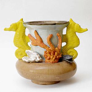 Seahorse Pot, HMP Pentonville, Gold Award for Ceramics 2015