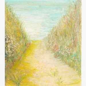 A sandy path with plants and shrubbery either side by a Koestler Awards entrant from HM Prison Wakefield.
