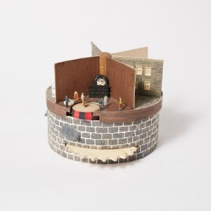 Spinning sculpture with five scenes about a prisoner's life made by a Koestler Awards entrant at HM Prison Dartmoor.