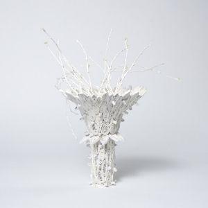 White Quilt Vase