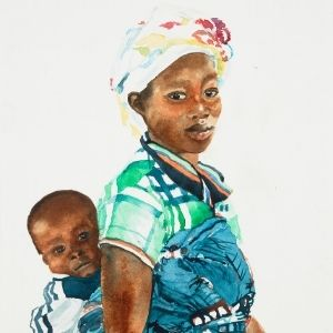 African Woman with Child – 20K6466